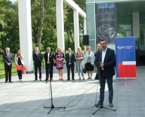 Vladimir Pavlov počas pozdravného prejavu