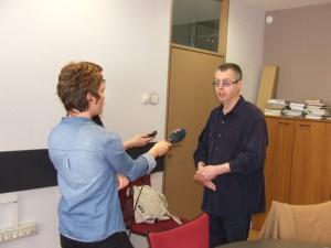 Goran Herling v rozhovore s novinármi (Foto: V. Dorčová-Valtnerová)