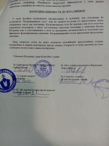 Podpisy svedčia o novej vládnucej koalícii v Obci Báčsky Petrovec
