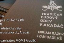 Premiéra knihy Tradičný ľudový odev v Aradáči
