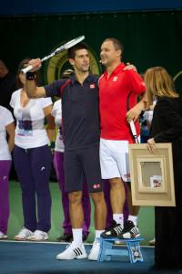 Novak s trénerom Mariánom Vajdom Foto: SITA