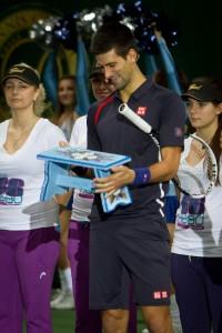 Novak Ɖoković s kovačickým šamlíkom Foto: SITA