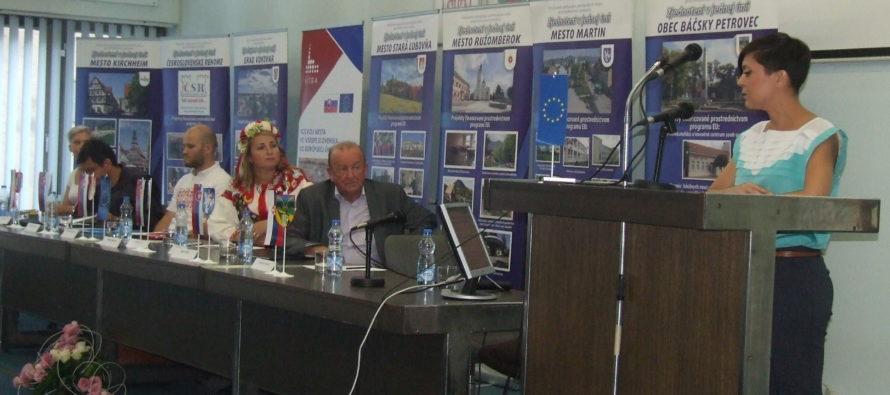 Prezentácia európskych projektov partnerských miest