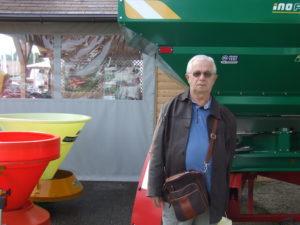 Branislav Gulan na veľtrhu v Gornjej Radgone (Foto: V. Dorčová-Valtnerová)