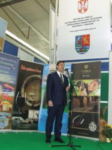Podpredseda vojvodinskej vlády Ivan Đoković počas oficiálneho otvorenia podujatia Deň Vojvodiny (Foto: V. Dorčová-Valtnerová)