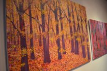Lesy a roviny v Obradnej sieni Mestského úradu v Detve