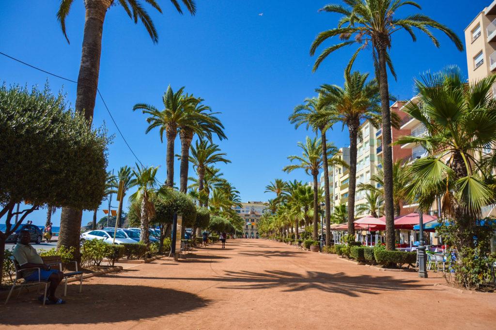 Časť Lloret de Mar , kde sa možné kochať krásnymi palmami