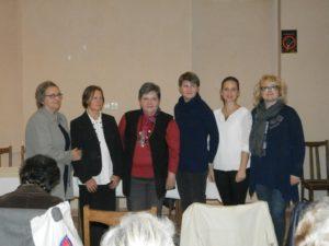 Účastníčky literárneho programu na večierku SŽS (Foto: J. Bartoš)