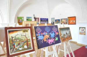 Momentka z otvorenia výstavy v Thurzovom dome v Banskej Bystrici