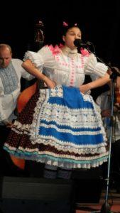 Laureátka festivalu v staršej vekovej kategórii Maja Gedeľovská zo Starej Pazovy