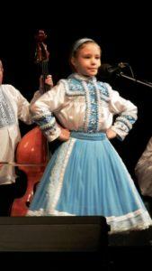 Víťazka festivalu v mladšej vekovej kategórii Mária Magdalena Torňošová z Kovačice