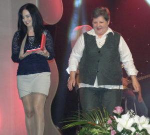 Odmenená Aneta Lomenová a Katarína Melegová-Melichová