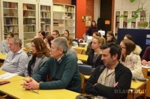 Profesori a študenti Oddelenia slovakistiky
