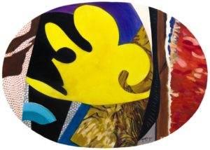 Ovalná kompozícia, olej na platne (1994)