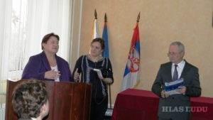 Na oslave sa prihovorila aj Dagmar Repčeková, veľvyslankyňa Slovenskej republiky v Srbsku