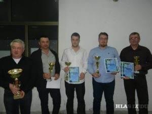 Tohtoroční víťazi: (zľava) Pavel Jančo, Pavel Labát, Albert Čeman, Ján Hrubík, Adam Čeman