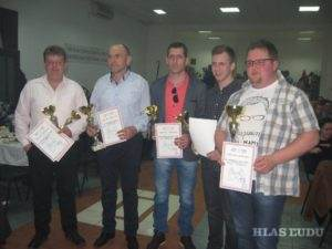 Víťazi: Janko Hrubík, Adam Radlinský, Dávid Karkalík, Martin Zahorec a Pavel Kokavský (z ľava)