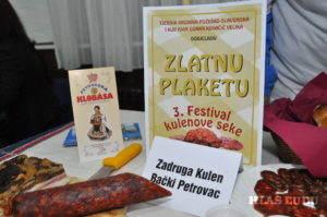 Zlatá plaketa pre družstvo Kulen z Petrovca