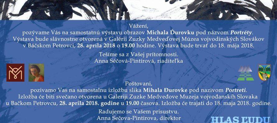 Portréty Michala Ďurovku v Petrovci