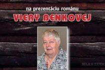 Prezentácia románu Viery Benkovej v Bratislave