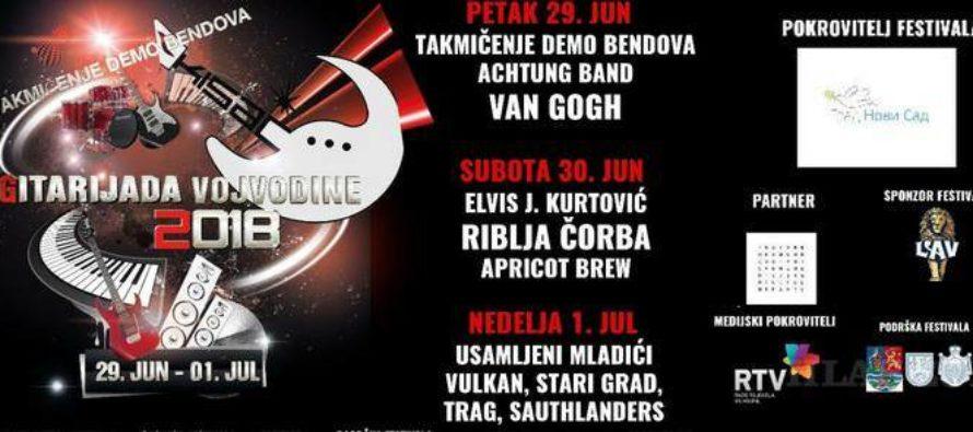 Gitariáda Vojvodiny cez víkend v Kysáči