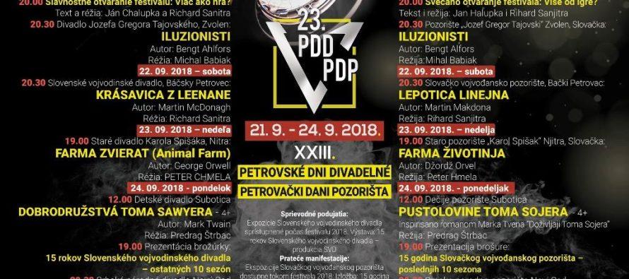 23. Petrovské dni divadelné