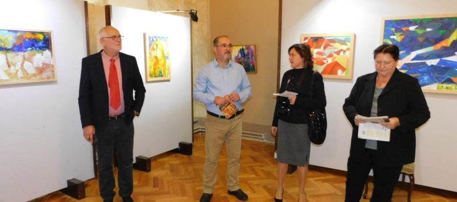 Miloslav Dvorák zo Slovenska vystavuje v Pančeve