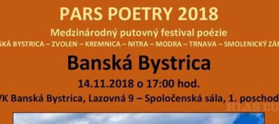 Pars Poetry 2018 v Banskej Bystrici