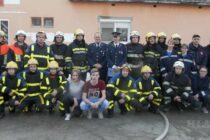 Takticko-ukážkový výcvik hasičov v Hložanoch