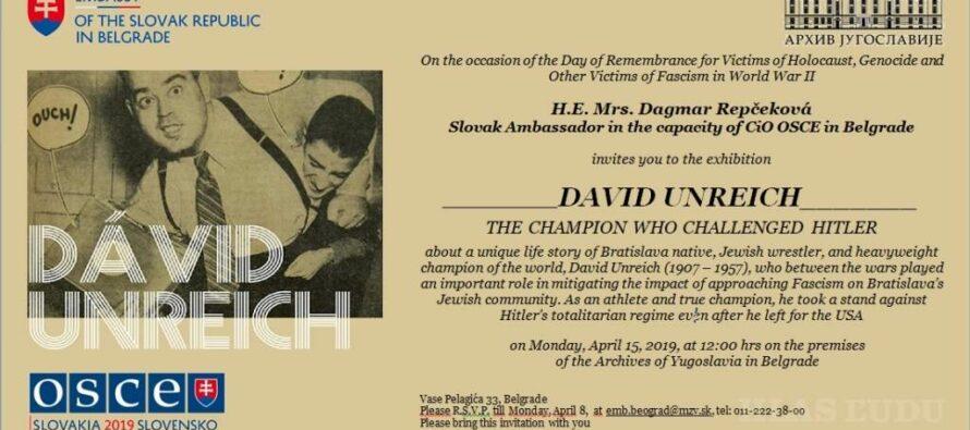 Dávid Unreich – šampión proti Hitlerovi