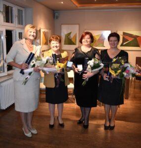 Tohtoročné prítomné laureátky: (zľava) Jarmila Jonášová, Mária Czégéňová, Svetlana Zolňanová a Ruženka Ďuríková