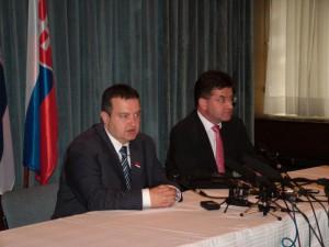 Tlačová konferencia Dačić – Lajčák prebiehala na Zastupiteľskom úrade SR v Novom Belehrade