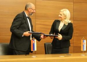 Z pondelkového stretnutia ministrov Mihajlovićovej a Malatinského v Hospodárskej komore Srbska