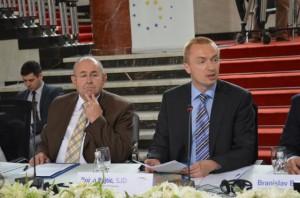 Predseda vlády AP Vojvodiny Bojan Pajtić a predseda Zhromaždenia István Pásztor