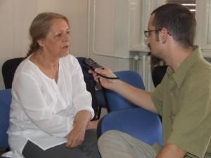 Žužana Serenčeš v rozhovore s novinárom