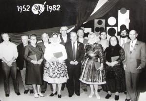 Na Kovačickom októbri v roku 1982 domáci maliari s kultúrnymi aktivistami z Kovačice si pripomenuli 30. výročie prvej kolektívnej výstavy