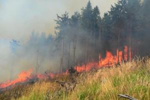 Požiar nad obcou Betliar