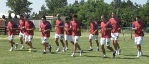 Záber z príprav prvoligového FK Dolina Padina