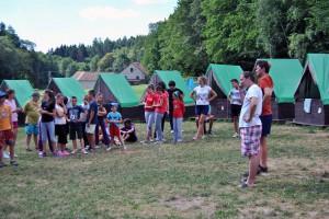 Mládež z Plandištskej obce počas tohtoročného pobytu v tábore Ochoz v Česku