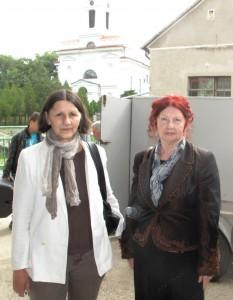 Eva Taubertová (zľava) so spisovateľkou Annou Dudášovou