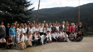 Účastníci školy v prírode v Hronci