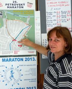 – Tuná sa stretneme v nedeľu 29. septembra, – vyzvala všetkých predsedníčka OV Petrovského maratónu 2013 Tatiana Kriváková-Amidžićová