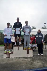 Dobrí športovci a výborní bežci – Saša (I), Pavel (II) a Ivan (III)