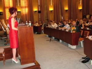 Zo štvrtkovej slávnostnej akadémie – prejav predsedníčky Anny Tomanovej-Makanovej